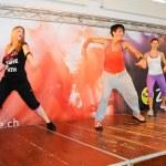 People dancing during Zumba training fitness — Stock Photo #69294869