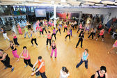 People dancing during Zumba training fitness — Stock fotografie