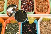 Teas and Spices at a market — Stock Photo