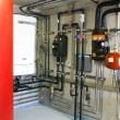Pipes of heating system — Stock Photo #71485895