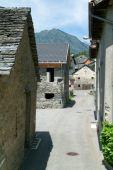 Alte Landhäuser bei dem Dorf Dangio — Stockfoto
