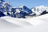 Winter landscape at Engelberg — Stock Photo