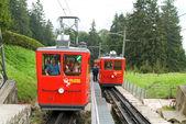 World's steepest cogwheel railway — Stock Photo