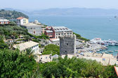 View at the harbor of Portovenere — Stock Photo