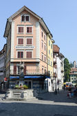 Ancient center of Lucerne — Stock Photo