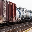 Freight train tanker cars in perspective — Stock Photo #66357591