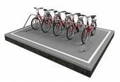 Aparcamiento de bicicletas — Foto de Stock