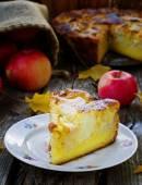 Apple sour cream pie  — Stock Photo