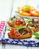Bruschetta with ratatouille — Stock Photo