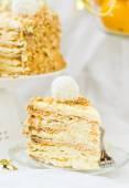"New Year's pie "" a napoleon ""  — Stock Photo"