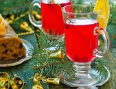 Berry punch with a cranberry in glass glasses  — Stockfoto