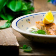 Salmon with sauce from a sorrel.  — Stock Photo #69292269