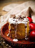 Easter cake kulich — Stock Photo