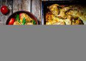 Le quaglie fritte con insalata — Foto Stock