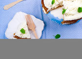 Carrot cream pie from cottage cheese  — Stok fotoğraf