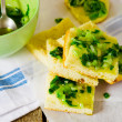 ������, ������: House focaccia with green onions sauce