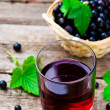 Cold drink from black currant — Stock Photo #79052848