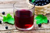 Cold drink from black currant — Stock Photo