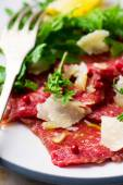 Carpaccio from veal. — Stock Photo