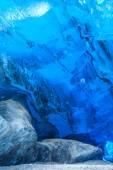 İzlanda'daki mağara duvarları buz — Stok fotoğraf
