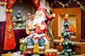 Santa Claus. Christmas background. — Stock Photo