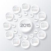 Calendar 2015 vector desing — Stock Vector