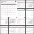 Calendar 2015 vector desing template — Stock Vector #57880961