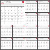 Kalender 2015 vector design sjabloon — Stockvector