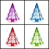 3D Christmas tree concept — Stock Photo