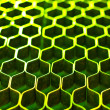 Abstract metal honeycomb structure — Stock Photo #67982569
