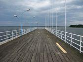 Look on pier — Stock Photo