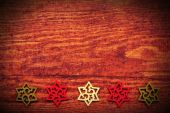 Christmas wooden background with stars — Stockfoto