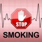 STOP SMOKING on ECG recording paper — Stock Photo #52092795