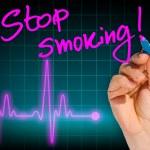 Постер, плакат: Hand writing message STOP SMOKING