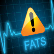 ������, ������: FATS written on heart rate monitor with danger sign