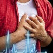 Men with chest pain - heart attack — Stock Photo #52095831
