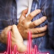 Men with chest pain - heart attack — Stock Photo #52095837
