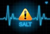 SALT - written on heart rate monitor — Foto de Stock
