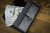 Wallet with hundred dollars — Stock Photo