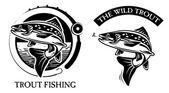 Vissen op forel — Stockvector