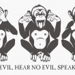 The three wise monkeys — Stock Vector #62620807