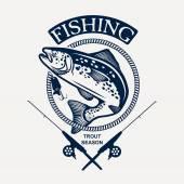 Pesca alla trota — Vettoriale Stock