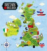 Maps of Britain and Ireland — Stock Vector