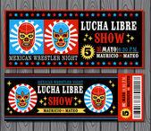 Mexican wrestler set. Lucha Libre — Stock Vector