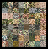 Seamless set of camouflage pattern vector. — Stock Vector