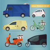 Leverende voertuigen — Stockvector