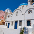 Blue domed church on the island of Santorini also known as Thera, Greece. — Stock Photo #54795741