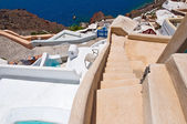 The steps in Oia town on the island of Santorini in Greece. — Stock Photo