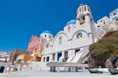 Cycladic church on island of Santorini, Greece. — Stock Photo