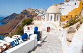 Fira Orthodox church on the island of Thera (Santorini), Greece. — Stock Photo
